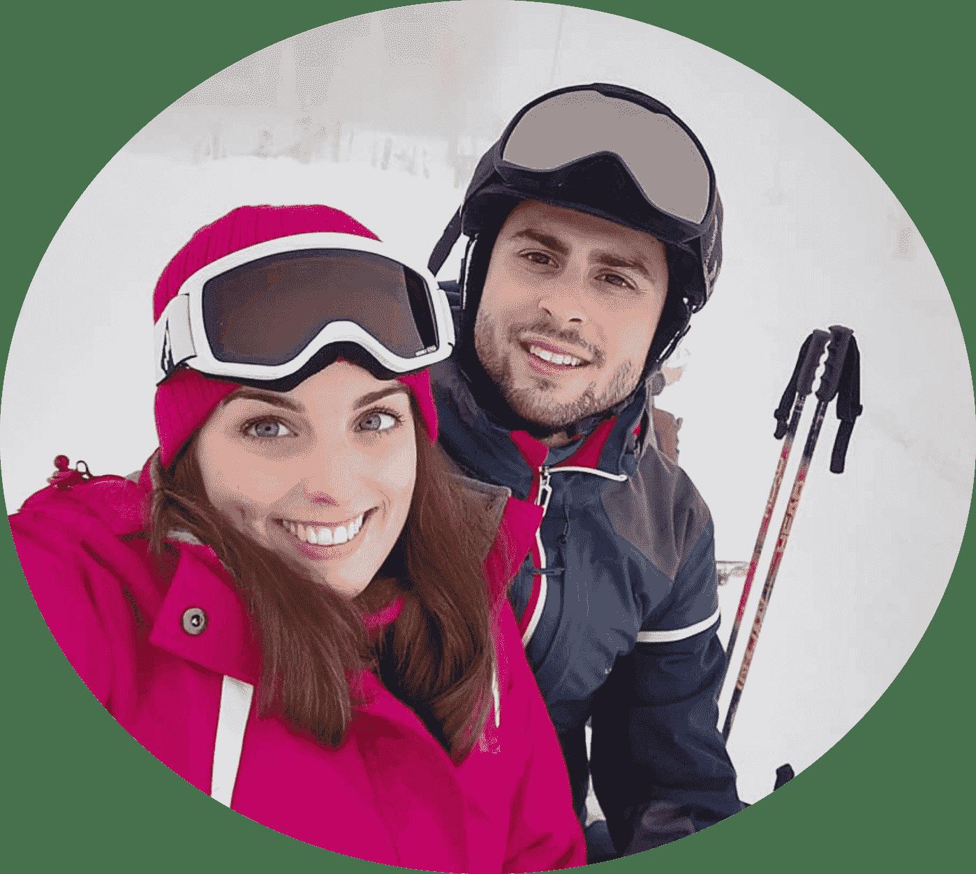 Couple My-Mountains Switzerland Ski Lessons