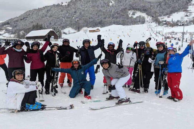 group ski lessons